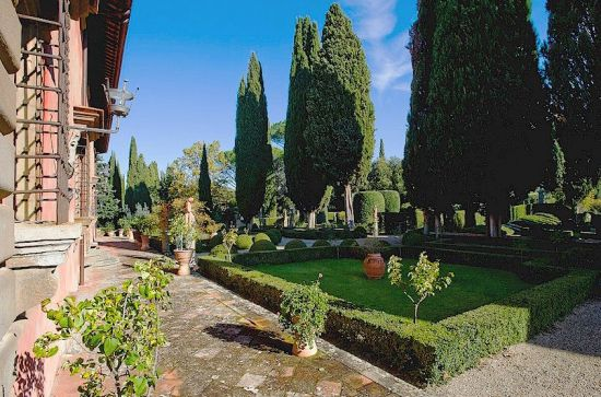The garden of Villavignamaggio